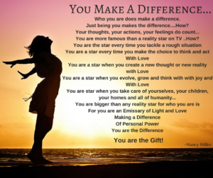You Make A Difference!