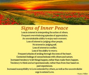 Sign of Inner Peace