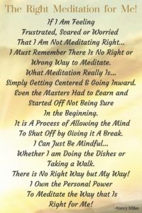 Right Meditation for Me!