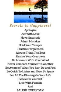 Secrets to Happiness !